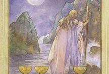 Tarot Cards of Pisces: 8 of Cups / The 8 of Cups is associated with the first decan of Pisces and Saturn in Pisces.