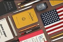 Made in America / Though we love collecting stationery from Japan and all over the world, there are many gems to be found right in our backyard. With its rich history in manufacturing, the United States is home to some truly great stationery companies. Browse this selection to find products with rustic styling, solid craftsmanship, and plenty of hometown pride.