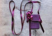 Textile Necklace / fiber necklace, fabric necklace, textile art necklace