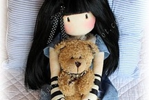 Dollies and Plushies / My granny wants me to make some rag dolls. Cue inspiration board!