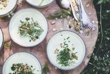 DESIGN SPONGE SUMMER TIME PARTY / A fresh and simple green and white theme throughout, with home grown decorations and edibles, herbed drinks, eats and gifts.    #designsponge #dssummerparty