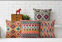 Bedroom Moodboard / Colours: Melon, aqua, mint Prints: Southwestern, geometric + floral