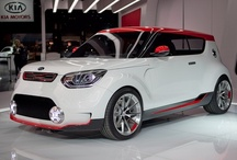 Kia Track'ster / Kia Concept cars show the evolution of Kia's sleek design and innovative engineering. Based on the Kia Soul, the Track'ster was unveiled at the 2012 Chicago Auto Show and previews a potential high performance version of the next-generation model with 247 bhp. The Track'ster is wider than the Soul with a longer wheelbase and has Brembo brakes