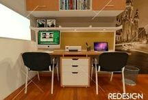 Home Offices, Work Stations  and Work Spaces / by Patricia Ubillus