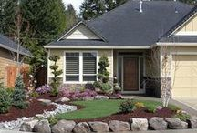 Front yards, entries, driveways