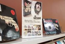 Library Displays / Current and past adult fiction and nonfiction displays