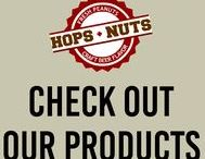 Check Out Our Products! / Go nuts with our delicious craft beer peanuts and Brewzels! Whether you're looking for something salty, sweet, or anything in between, Hops and Nuts has your tasty snacks! Pair our snacks with the perfect beer, wine, or cocktail and bring the party to the next level.  Great for gifts!