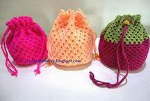 CROCHET-Hat,Purse,ETC /  shawls, squares,Hats small toys