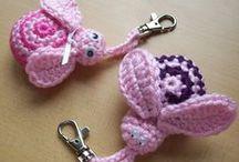 Flower-Bird-Butterfly++ / fabric, paper, ribbon, crochet,birds butterfly