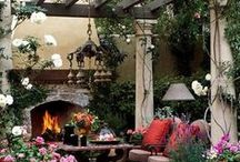 Flowers, Yard Deco.,Nic-Naks / Flower garden, antique nick nacks  animals to visit??
