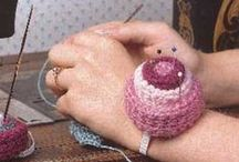 Pincushions+sizes- Crochet-Sew !! / pillows,pincushions, odd& ends