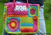 CROCHET-purse,squares,Sts. / toys, squares, clutch purse, misc