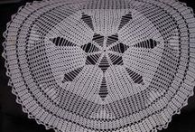Doily-Clothes-Thread,Lt. yarn IDEAS / Crochet Projects, Easy/Learn& squares