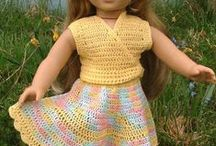 DOLLS:Outfits-Fab/Crochet++ / dolls made, clothes in fabric,crochet