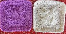 "Granny Squares 4"",6"",8"",!2"" / squares designers started, sizes 6-12"""