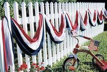 4th of July / Decorate your home in Patriotic red, white and blue with these 4th of July ideas.