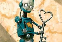 Aṩṩệṃḅŀÿ Required Assembled Art Mostly Metal / mixed media and other cool stuff that require assembly, mostly fun robot sculptures