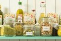 The Mediterranean pantry / A well organized pantry together with a weekly grocery list makes it so much easier to keep a healthy lifestyle and good eating habits.