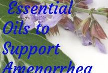 Amenorrhea - Essential Oils and Aromatherapy / Dilute essential oils 4 drops per tsp of carrier oil and apply to affected area. Recommendations for this ailment are derived from a combination of traditional knowledge, scientific studies, a variety of essential oil reference books and anecdotal evidence. Discontinue use if any irritation develops. Seek professional health care provider if the symptoms or conditions persist. These statements have not been evaluated by the FDA.