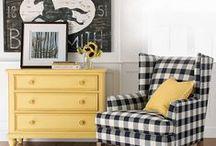 Sunshine & Shade / design inspiration in yellows and grays