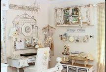 Craft Office Space / Lovely crafting and office spaces / by Alyssabeths Vintage