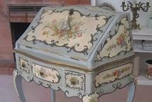 French Painted Decorative Furniture /  DECORATIVE FURNITURE