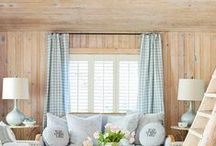 Natural Textures for the Home / Bringing in natural textures to a space adds a whimsical, outdoorsy feel. Woven Wood Shades combined with a light and airy drapery is a hot pick for home decor these days.
