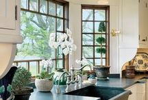 Kitchen Windows / The average family spends a great deal of time in the kitchen, so why not make it beautiful to look at? Love your kitchen windows with these window treatment ideas.