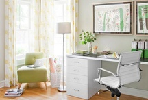 Back to Work: Office Decor / Decorate your office space with office shades and office blinds. Office window treatments can add a pop of color and get rid of glare so you can stop squinting to look at your books and computer. Purchase custom blinds to make your work experience more comfortable. Why make work harder than it already is?