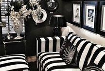 Black & White and lovely all over! / Black & White home decor and design ideas