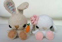 Free Bunny Crochet Patterns  / Make Your Own Bunny With A Free Pattern found here by a variety of designers! Click on the pictures to get to the pattern :) / by Sharon Ojala