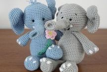 Free Elephant Crochet Patterns / Make Your Own Elephant With A Free Pattern found here by a variety of designers! Click on the pictures to get to the pattern  / by Sharon Ojala