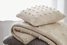 {crochet} / 1.  a handicraft in which yarn is made up into a textured fabric by means of a hooked needle.