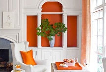 Optimistic Orange / Orange is a color paired well with pattern, texture and light rooms. Sneak a peek at our top ways to use orange top spice up the look of your home in your next home decor project.