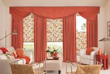 Roman Shades / Roman Shades are fabric shades with a drapery feel. We offer an array of materials and patterns with a choice of a flat fold  which provides a clean, modern look or a teardrop which creates a formal, elegant look. You can also choose between insulated, darkening, filtering or sheer.