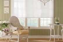 Sheer Shades / Sheer Shades are an airy fabric with soft sheer inner vanes. The open vanes allow diffused light in and have continuous cord lift/loop for safety. The light filtering styles go well with drapery and the room darkening styles are great for obstructing light.