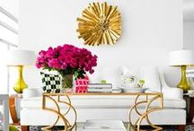 Coffee Table Styling / The coffee table is the center point in your living area. Go modern with funky decor elements, or channel your minimalist side and style the table with a few statement pieces. Comment on or pin your favorite looks!