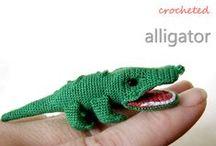 Free Alligator and Crocodile Crochet Patterns / by Sharon Ojala