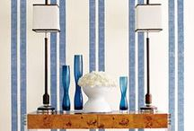 """SAY IT WITH STRIPES / We are suckers for stripes. We adore the crisp, visual interest a striped pattern can add to a room. We also love how well they """"play"""" with florals and solids, too."""