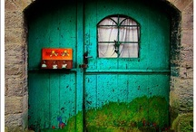 """Doors To The Unknown / every doorway has a story..... """"maybe why all the doors were closed, is so you could find one that would lead you to the perfect road"""" / by Zia's Kitchen"""