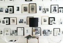 GET THE LOOK: GALLERY WALL / A gallery wall is a great way to fill a blank wall with a pretty collection. Mix finishes and materials, artwork and photography — it makes for an interesting arrangement.