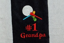 """Golfing Makes Me Hot! / Golf towels are 16"""" x 26"""". The towel is velour terry and includes a grommet for attaching it to the golf bag.   Recipient's name will be embroidered on the towel.   www.AGiftToTreasure.com"""