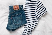 -Clothing- / Mostly stripes and jeans. / by Paige Burchard