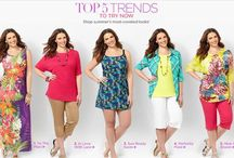Top 5 Trends to Try Now / Summer's most coveted looks from Catherines Plus Sizes!  1. To The Maxi  2. In Love with Lace 3. Sun-Ready Swim 4. Perfectly Plaid 5. New in Bloom