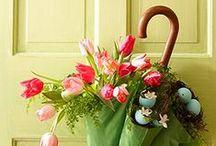 Wreaths / I love a pretty wreath for my front door. Here's my inspiration for springtime flower wreaths, Christmas wreaths, fall themed wreaths, DIY wreath tutorials, burlap wreaths, monogrammed wreaths, and more!