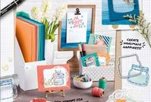 Stampin' Up! 2016-2017 Catalog / Paper crafts made from supplies in the catalog stamping, rubber stamps, handmade cards, home decor, memory keeping, scrapbooking, goodie bags, gift card holders
