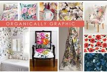 KKDL TRENDWATCH 2017: ORGANICALLY GRAPHIC / 2017 is all about reimagining our favorite colors, patterns, and themes. Organically graphic takes the repetitive prints we know and love and turns them on their head with large format, bold colors, and a soft, water-colored effect. Inspired by some of our favorite brands at High Point market, we imagine this trend taking over art, upholstery-- even area rugs! / by Kerrie Kelly Design Lab