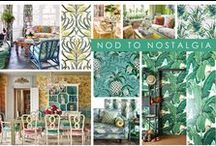 KKDL TRENDWATCH 2017: NOD TO NOSTALGIA / Drawing inspiration from trends past, Nod to Nostalgia reinvigorates vintage prints like floral motifs and botanical illustrations with playful variation and vibrant colors. Perfect as a statement or fitting for an entire room, this trend welcomes whimsy and high-impact patterns no matter the style of your space. / by Kerrie Kelly Design Lab