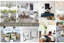 KKDL TRENDWATCH 2017: MOVABLE MOTIF / Looking for a quick + easy way to boost the style factor in your space? Look no further than 2017's most contemporary trend, Movable Motif. Pairing ottomans, side tables, coffee tables, and stools together in unique configurations creates a fashionable and functional focal point for any room. Gather pieces of different shapes, sizes, and colors to create the perfect center piece, and scatter them when you need extra seating or table space. / by Kerrie Kelly Design Lab