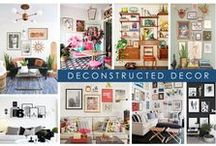 KKDL TRENDWATCH 2017: DECONSTRUCTED DECOR / Embrace 2017 with an open mind by opting for free-flowing design concepts like organic gallery walls with mismatched frames and antiques and heirlooms. Weave your personal style into a gallery wall grid with texture, color, and patterns via framed wallpaper, trinkets, and your favorite art pieces. / by Kerrie Kelly Design Lab